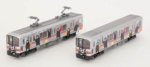 熊本電気鉄道01形 (くまモンラッピング・シルバー)2両セット
